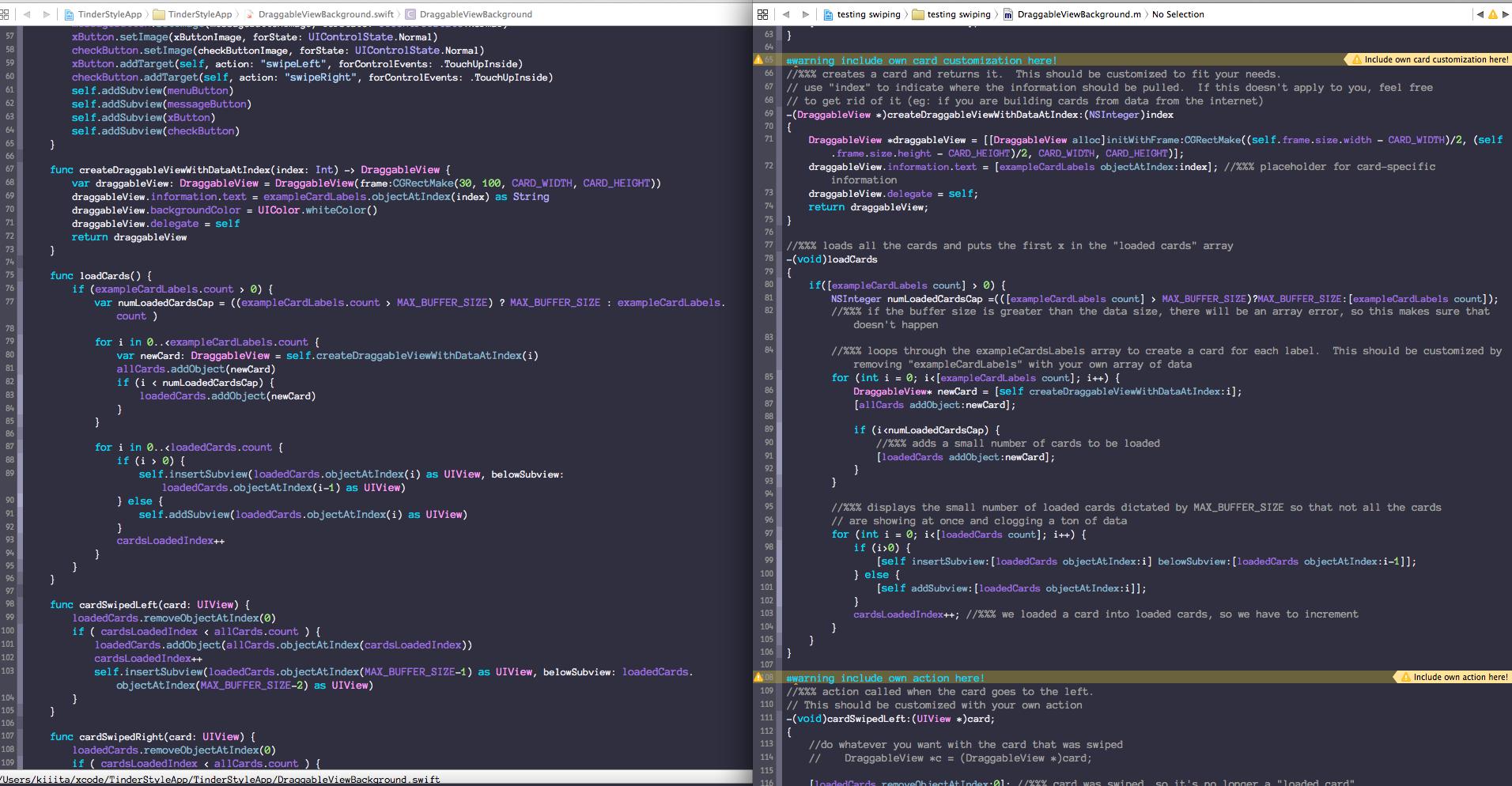 SwiftでTinderUIを実装してみた(Swift, Xcode6 beta5) - Qiita