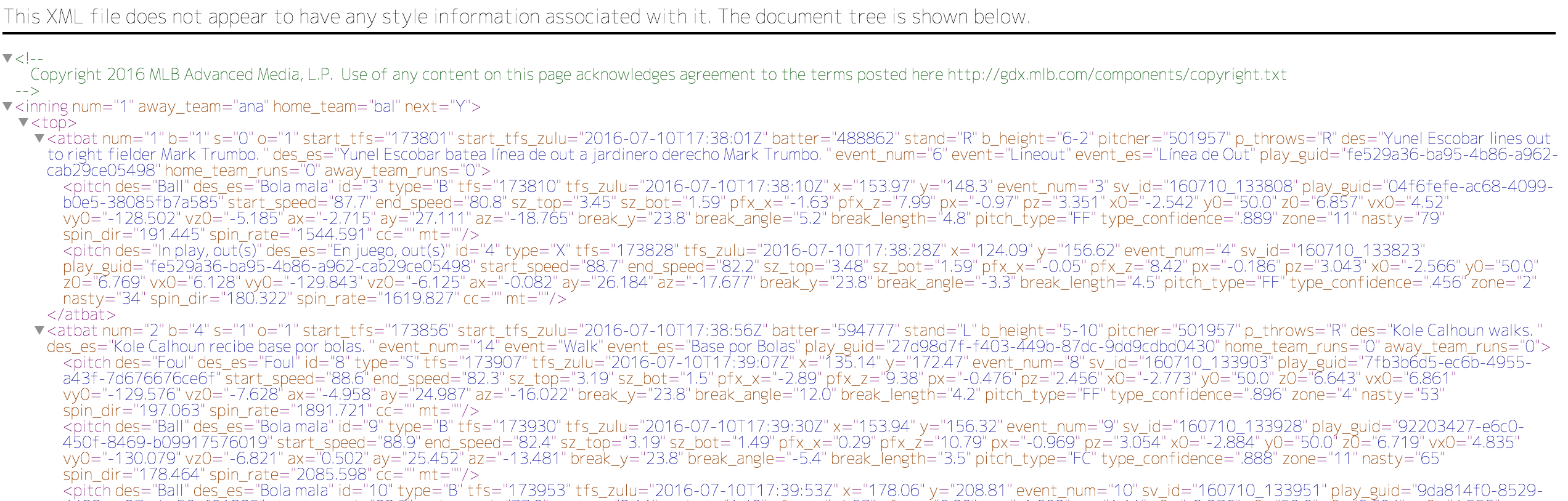 rとsqliteでmlbの一球速報データを自由気ままにいじってみた qiita