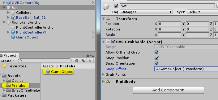 Unity】OVRGrabbableのSnapOffsetを簡単に作る方法 - Qiita
