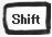 シフトボタン