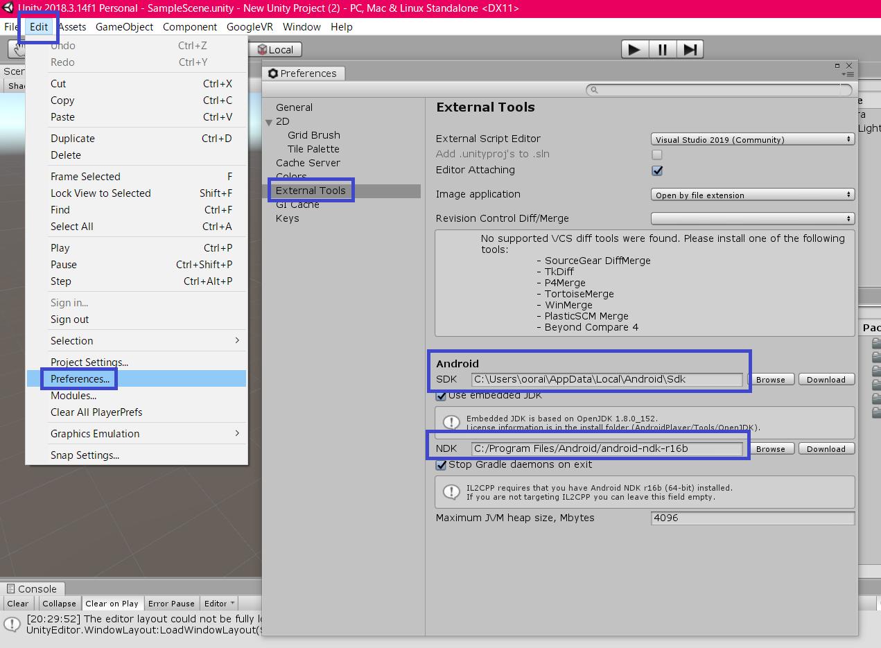 Mirage Solo+Unity+GVR SDKでパススルーモードのデモをビルド