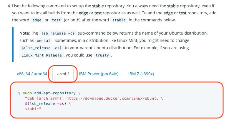 Docker] RaspberryPi3 へのインストールからサンプル(hello