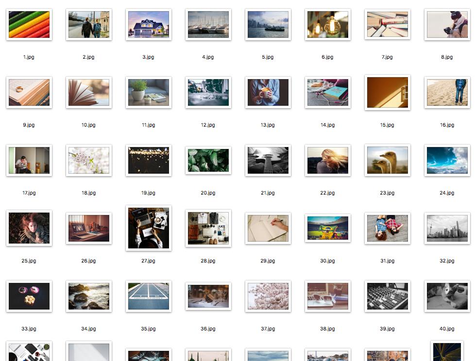 今回特徴量を抽出した画像の一部。これらの画像はhttps://www.pexels.comでCC0で提供されている。