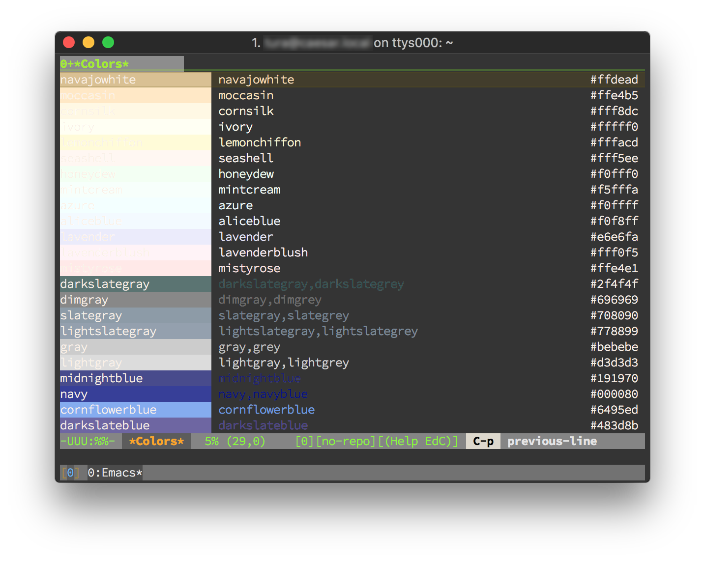 tmux 上の Emacs で 24-bit color を表示する方法 - Qiita