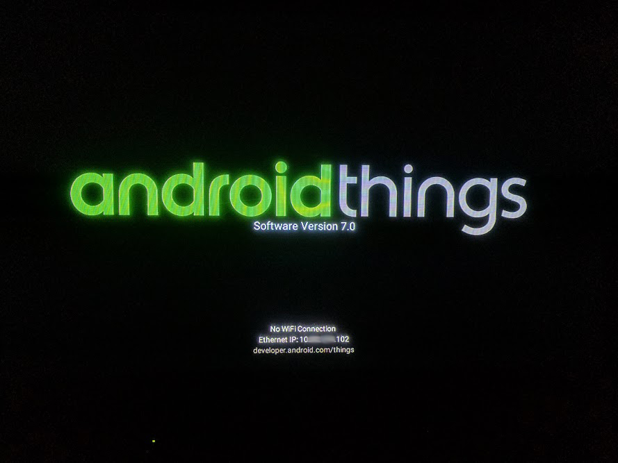 Android Things起動画面
