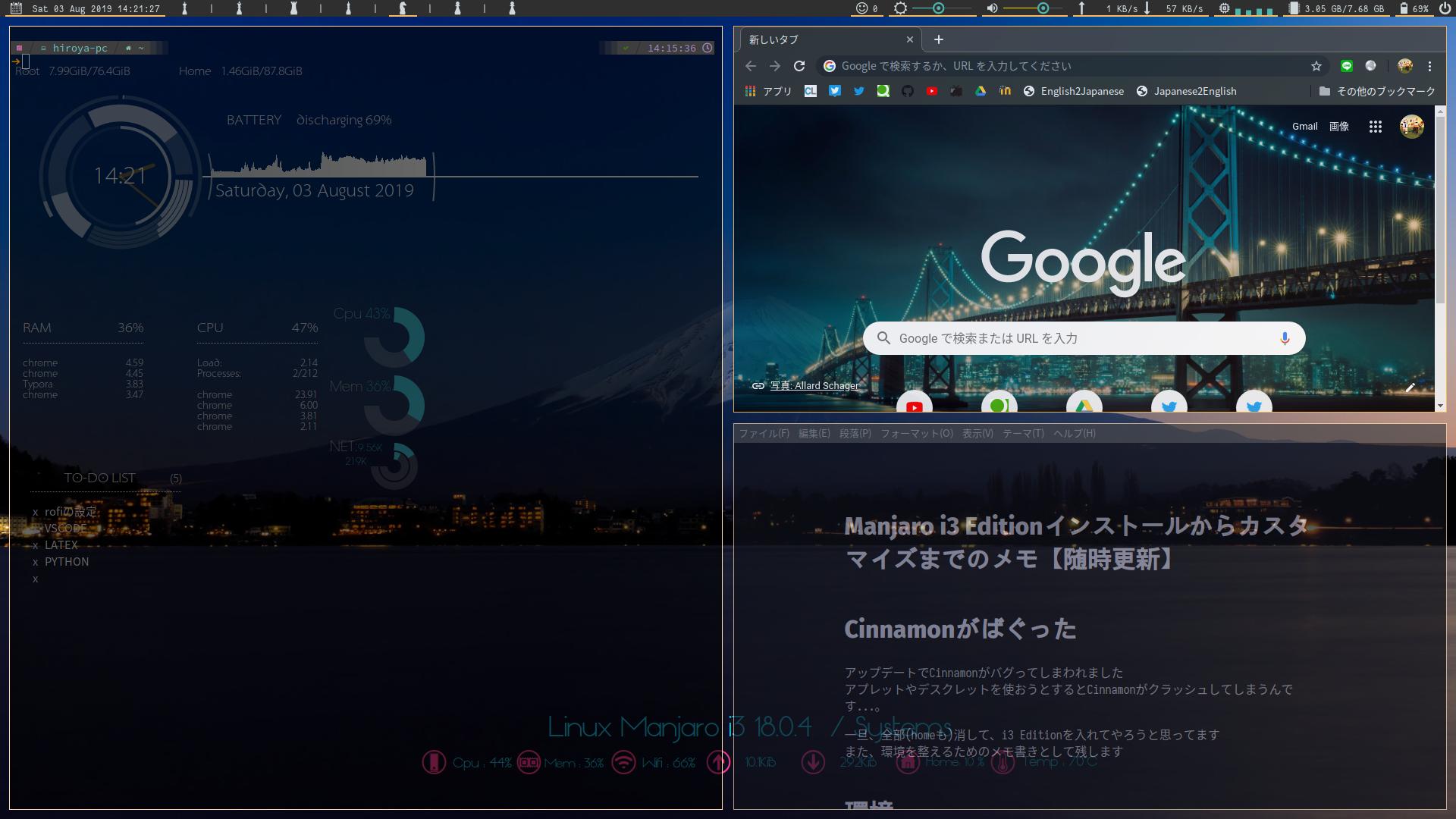 Manjaro i3 Editionインストールからカスタマイズまでのメモ - Qiita