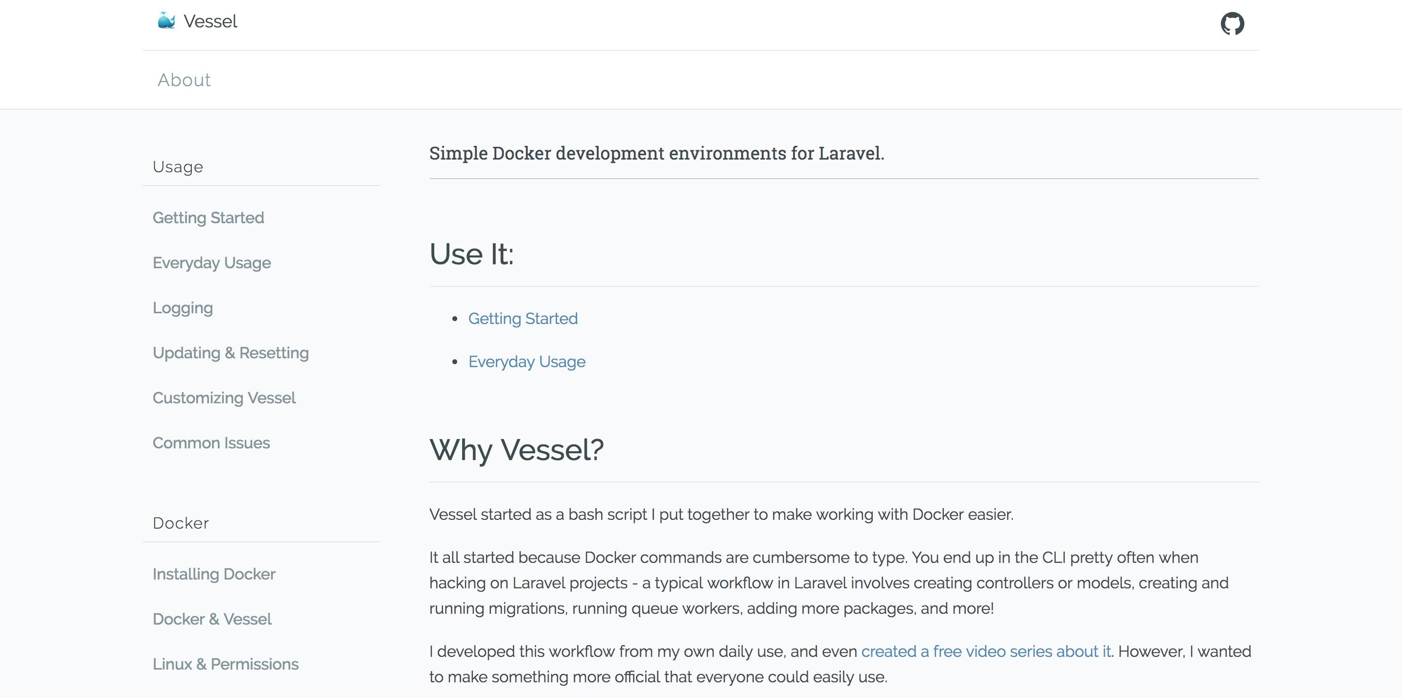 VesselでLaravelのDocker環境をサクッと作る - Qiita