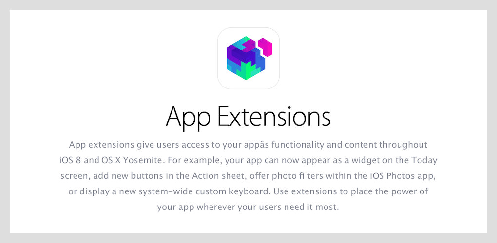 App Extensions