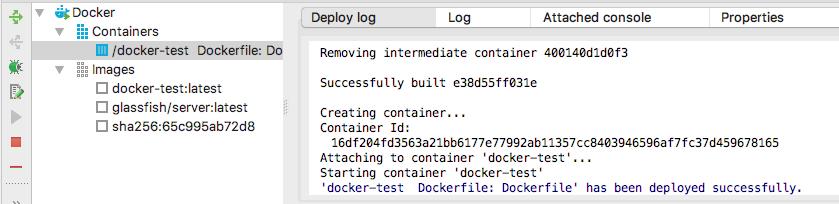 Dockerツールタブ