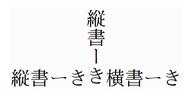 部分的縦書きの例1