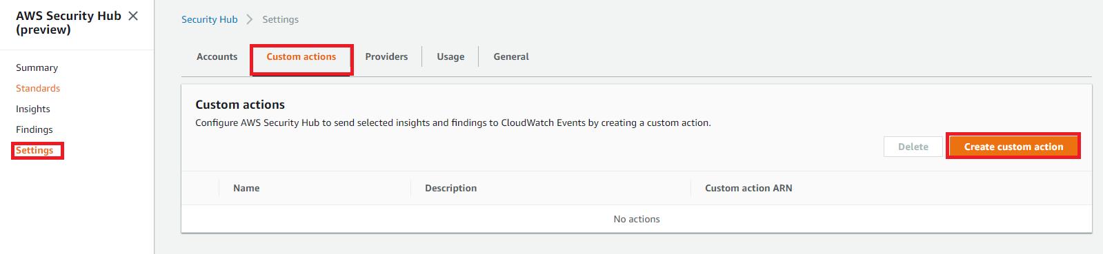 AWS Security Hubのカスタムアクションではリアルタイム通知は