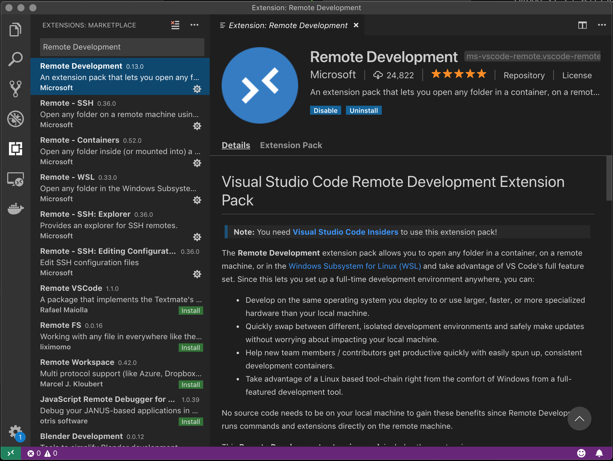 Visual Studio Code Insiders Build provide early access to new features of Visual Studio. New builds are released at least everyday with features, bug fixes, and other recently closed issues. You can install it next to the Stable build, allowing you to use either independently.