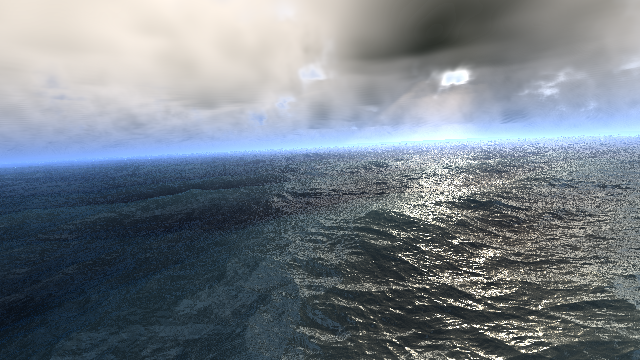 レイマーチングで海を描く