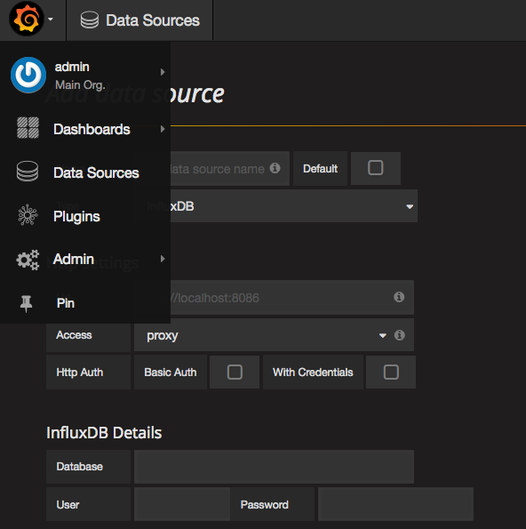 Grafana Add Data Source