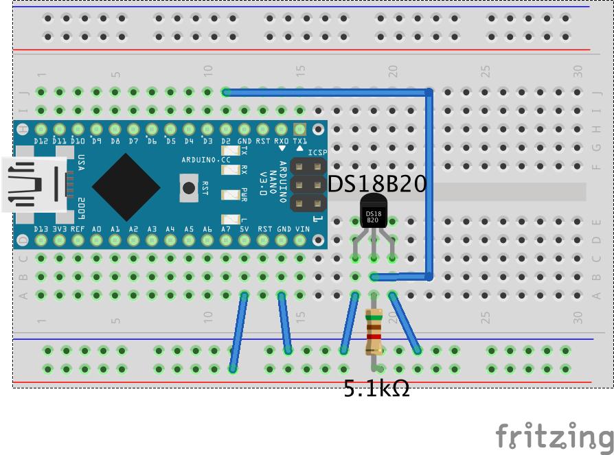 Arduino+DS18B20で温度測定してみた