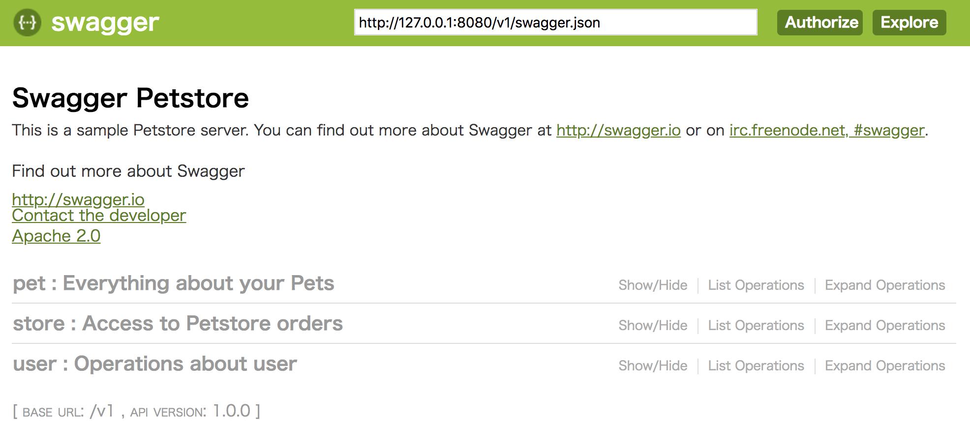 Swagger 2 0 + Flask のPetstoreデモをとりあえず動かす - Qiita