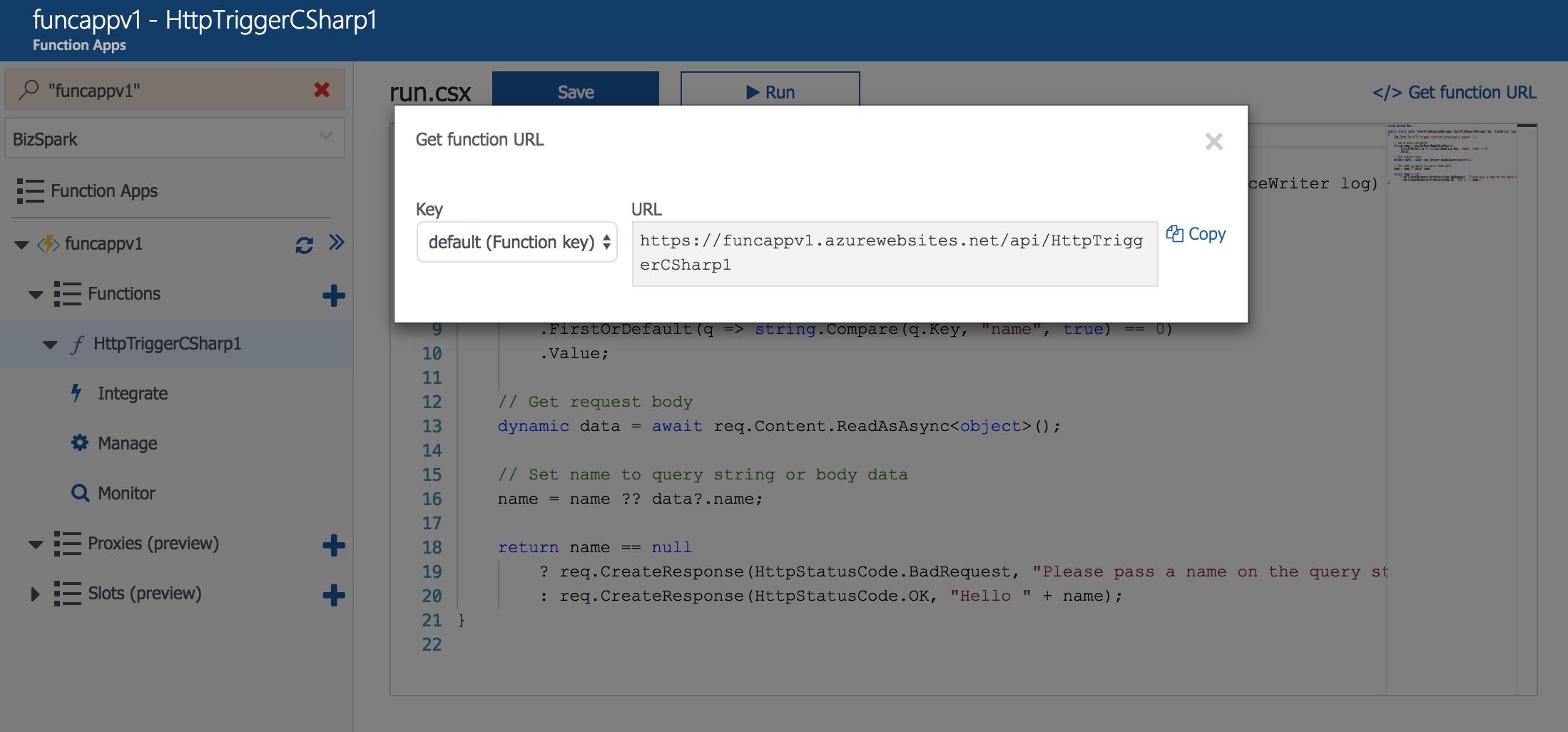 Azure Functions と Azure Active Directory B2C を連携させる