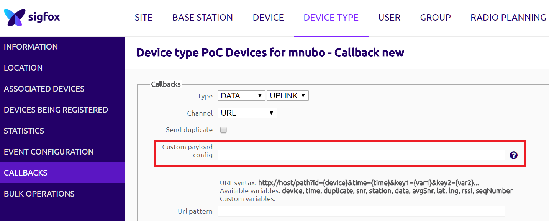 sigfox callback custom payload config機能 qiita