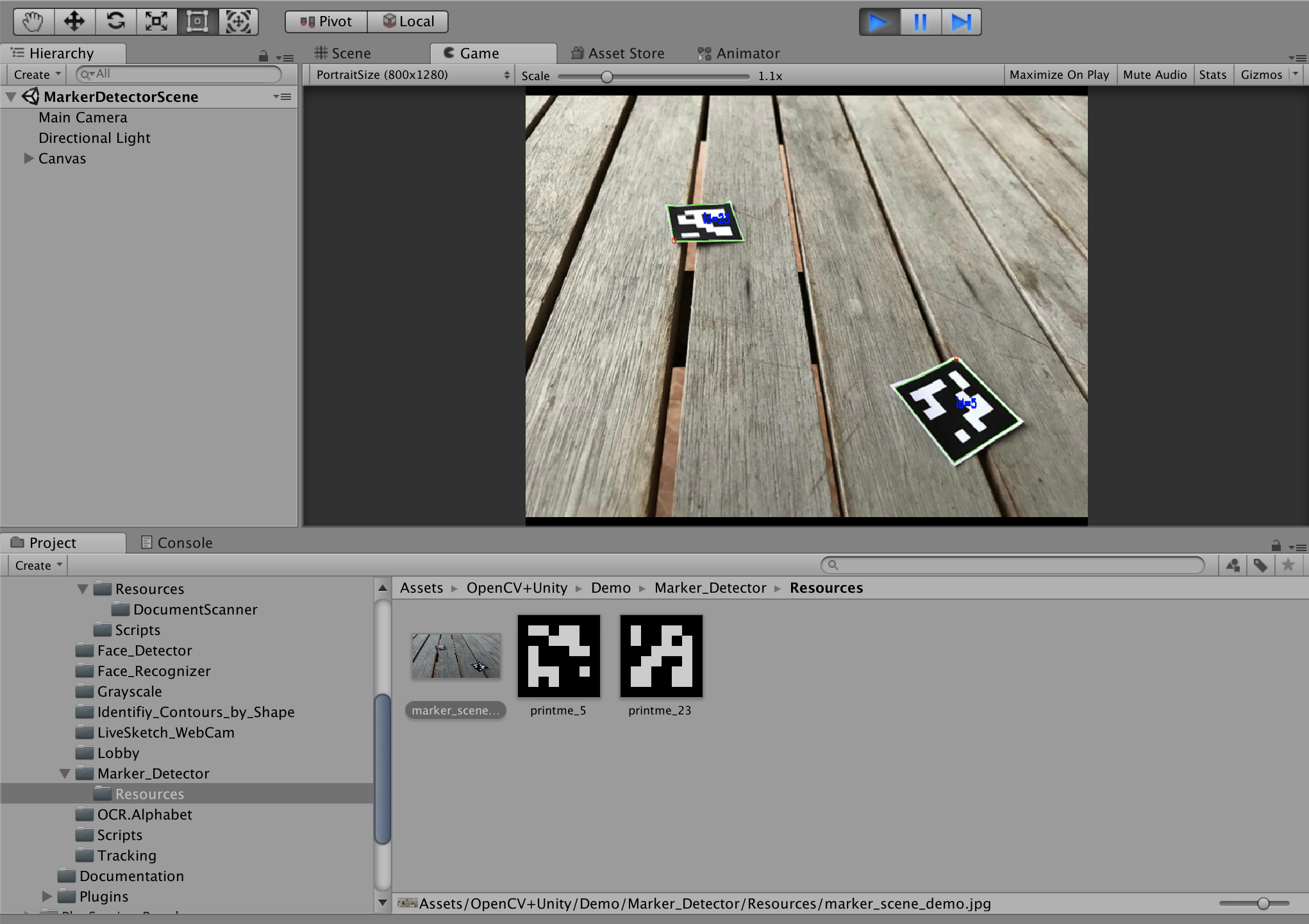 OpenCV plus UnityとARCore】図形をスキャンしてモデルを表示