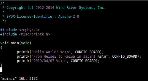 Zephyr on HiFive1(RISC-V RV32) - Qiita