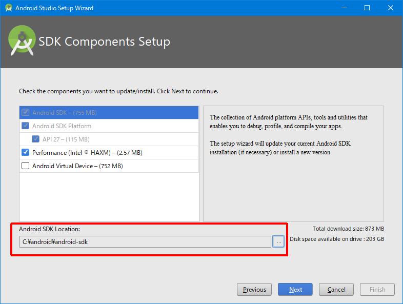 Windows版Android Studioをzipアーカイブからセットアップする