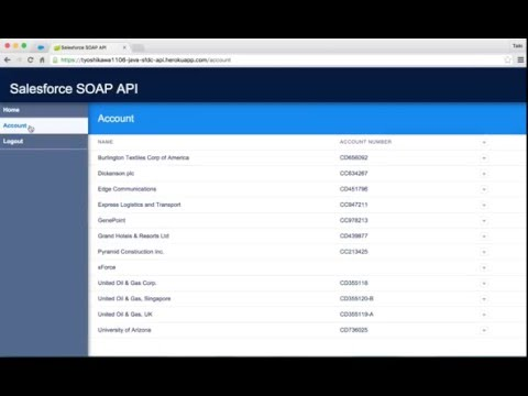 IMAGE ALT Heroku Demo #12 - Java × Salesforce SOAP API ver.1