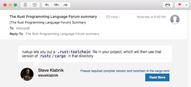 Rust Programming Language Forum Summary