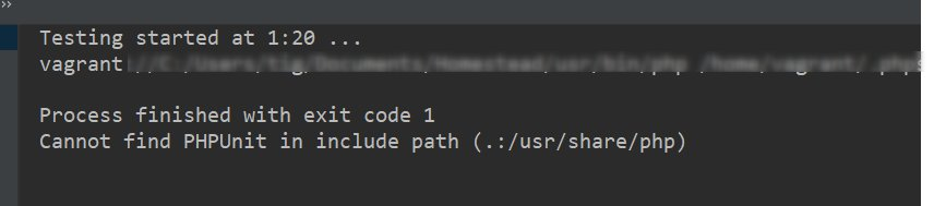 """Laravel + Homestead(Vagrant) + PhpStormでPHPUnit実行時に""""Cannot find PHPUnit in include path (.:/usr/share/php)""""が出る問題"""