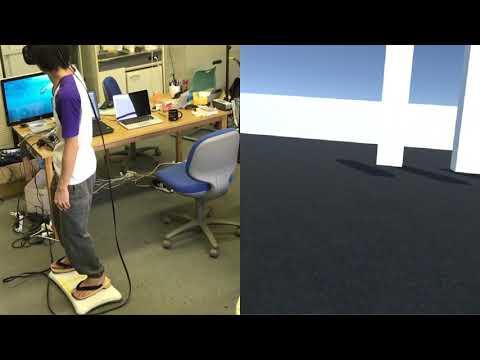 重心方向に移動するVR-スケボー型の移動