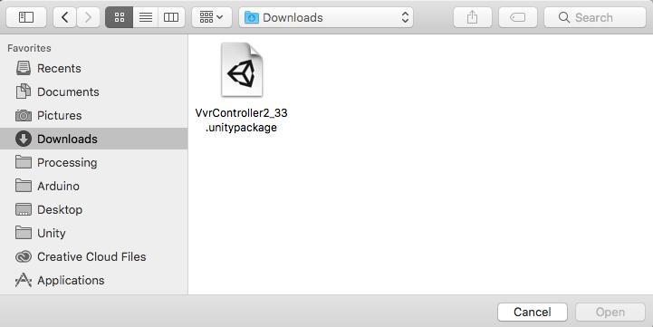 VvrController2_33を開く