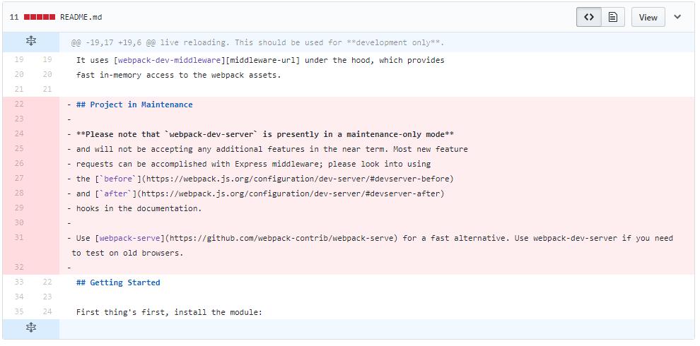 webpack-dev-serverは引き続き開発継続される見通し? - Qiita