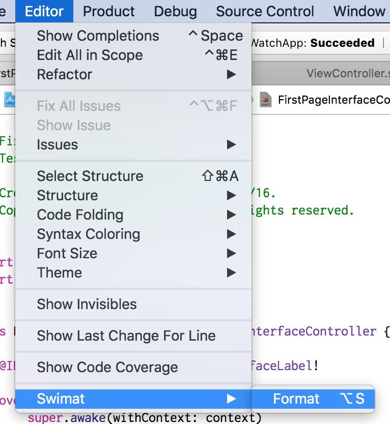 xcodeで使えるswiftコードフォーマッター swimat をつかってみた qiita