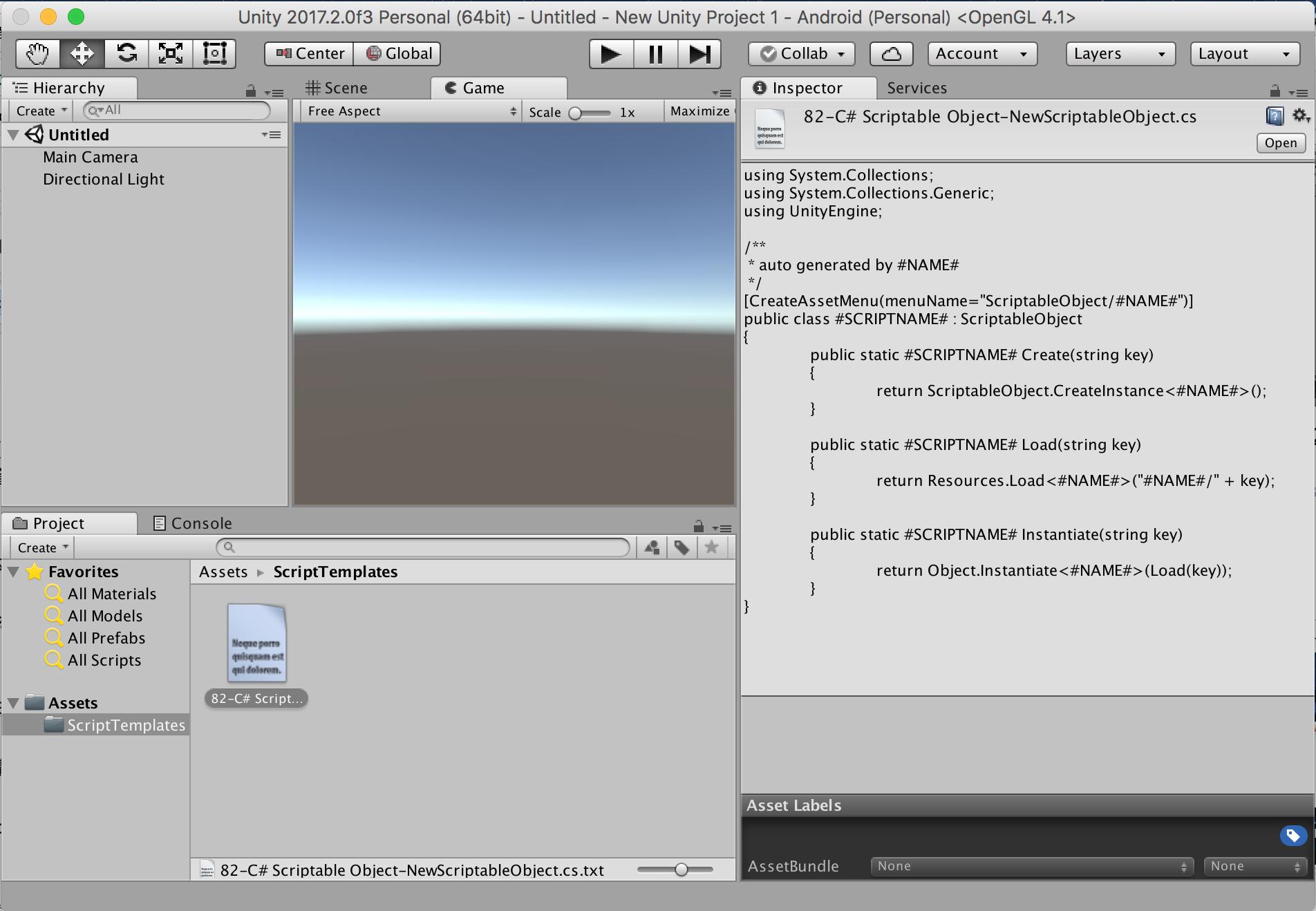 ScriptTemplatesでScriptableObjectのための環境構築 - Qiita