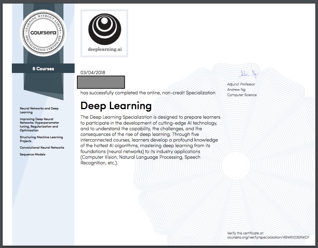 COURSERA DEEP LEARNING - Coursera Deep Learning