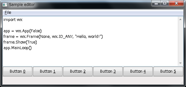 WxpythonのHelloworld - Qiita