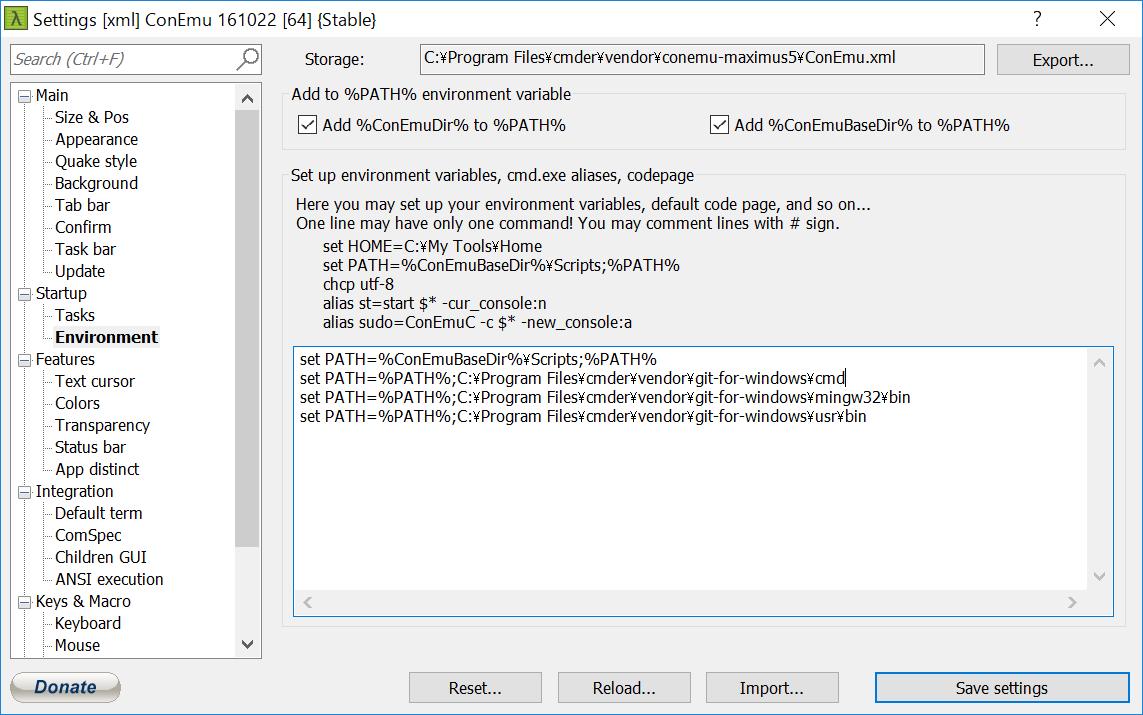 Windows10でMacライクなターミナル環境を構築する - Qiita
