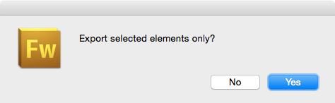 Export selected elements only?