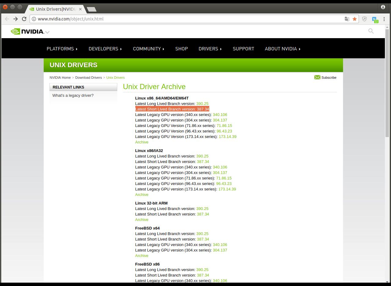 Ubuntu 16 04にGTX 1080Tiドライバをインストール(外付けGPUを