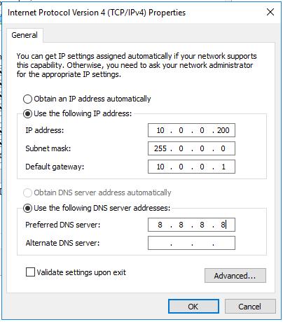 IP アドレスの設定