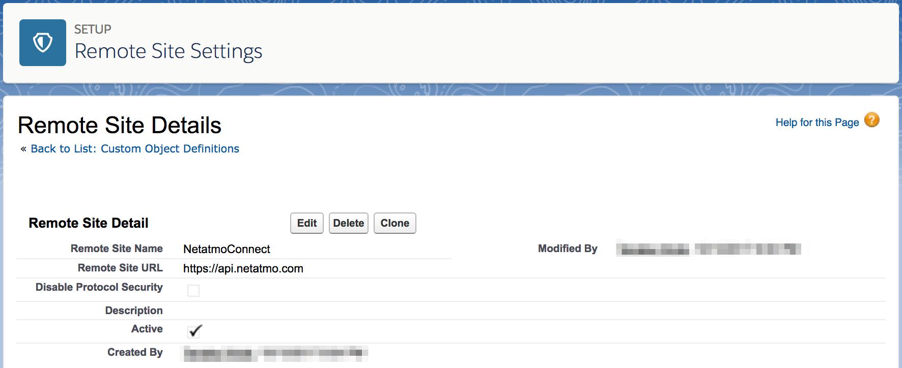 リモートサイトの登録