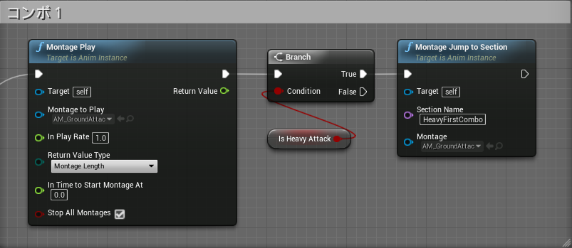 UE4のAnim Montageを使ってSEKIROっぽいの攻撃システムを作る