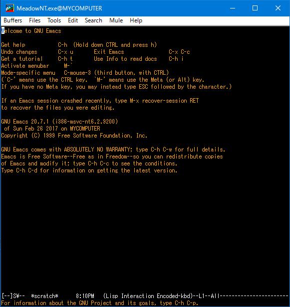 Meadow1 15をWindows10/64bitで使うときのメモ - Qiita