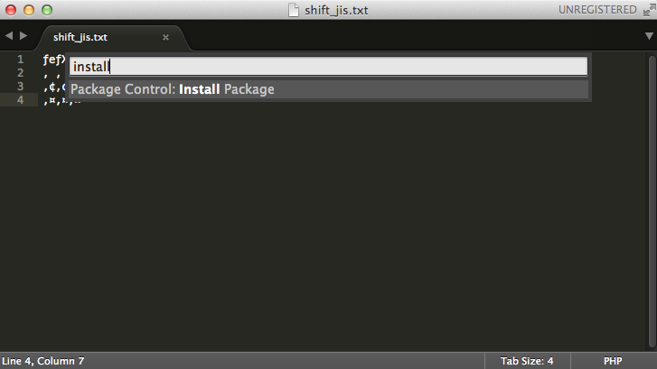 Package Control: Install Package