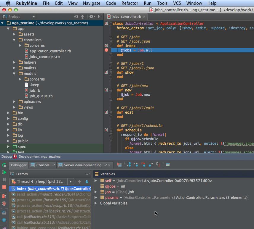 RubyMine初心者が定期実行させるJobのデバッグに挑戦 - Qiita