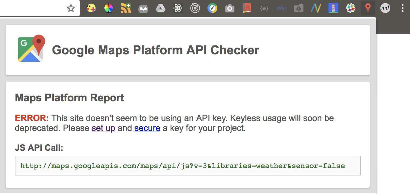 google maps platform api checker