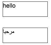 Arabic and hello canvases displayed