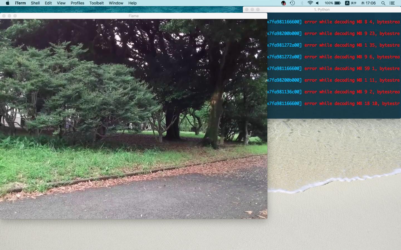 トイドローン Tello をMacで操作&カメラ映像をOpenCVで受信して
