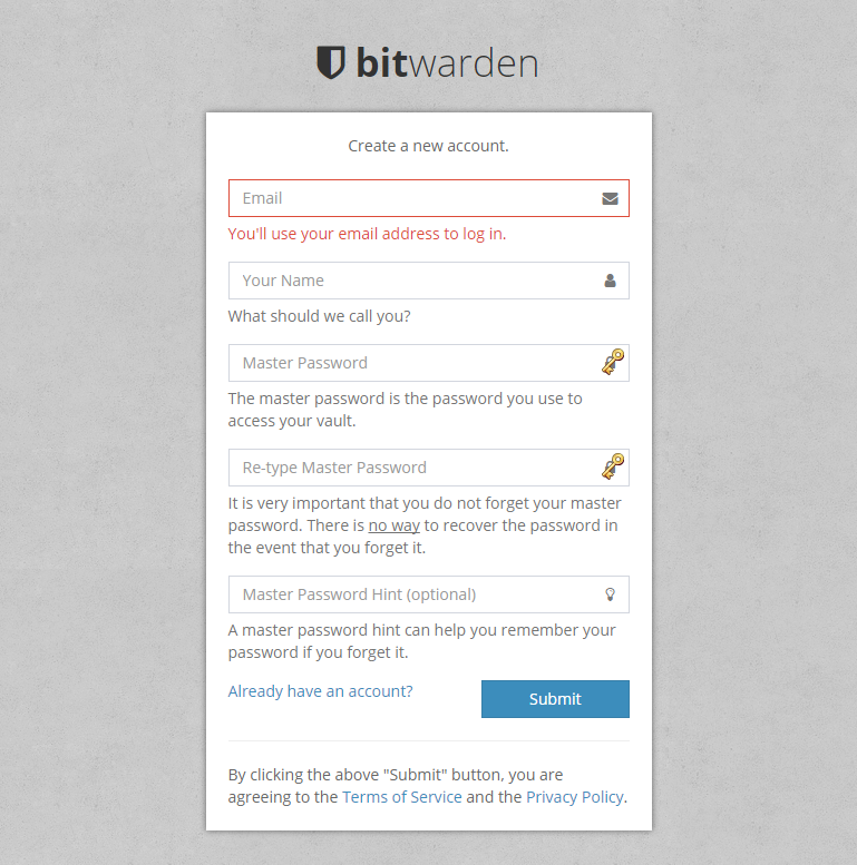 Register bitwarden Web Vault.png