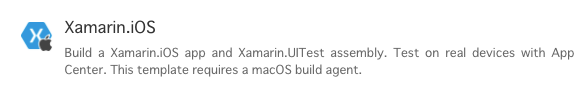 iOS用Template選択