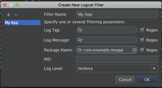 Custom Filter Configuration